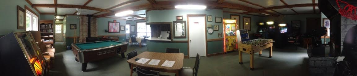 Lock 30 clubhouse gameroom wide angle view